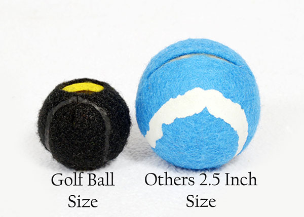 Golf Ball Size vs Competitors